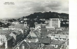 Romania Brasov panorama 1955 postcard