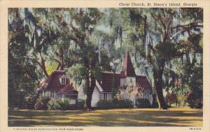 Georgia St Simon's Island Christ Church Curteich