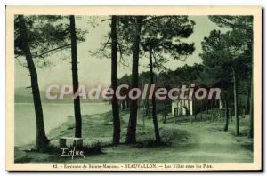 Old Postcard Around Sainte Maxime Beauvallon Villas in the Pines