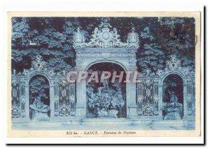 Nancy Old Postcard Neptune Fountain