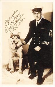 F27/ Animal RPPC Photo Postcard c1930s Dog Byrd Antarctic Expedition 13