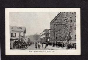MA Noon Hour GE General Electric Works Plant, Lynn, Massachusetts, Mass Postcard