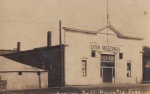 RP: HIAWATHA , Kansas , 1908 ; Street View , Armory Hall