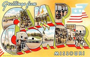 Camp Crowder, Missouri USA Large Letter Military Unused