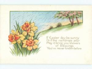 Divided-Back EASTER SCENE Great Postcard AA1333
