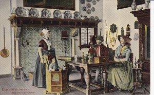 WALCHEREN, Zeeland, Netherlands; Eiland, Family in kitchen, 00-10s