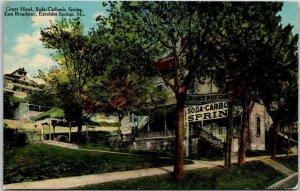 1912 Excelsior Springs, Missouri Postcard GRANT HOTEL, Soda-Carbonic Spring
