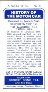 Trade Card Brooke Bond History of the Motor Car No 8