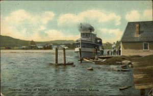 Harrison ME Steamer Boat Bay of Naples at Landing 1911 Used Postcard