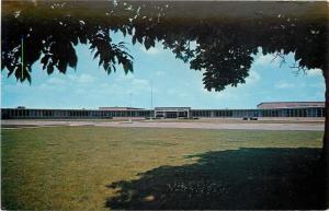 Fremont Ohio~Ross Senior High School~1960s Postcard