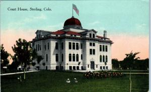STERLING, CO Colorado   COURT  HOUSE    c1910s    Postcard