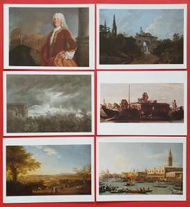 Set of 28 Different Art Postcards Grand Tour The Lure of Italy in the 18th Cent.