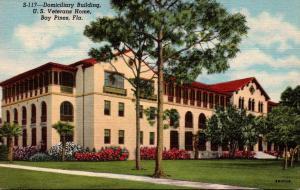 Florida St Petersburg Bay Pines Domiciliary Building U S Veterans Home Curteich