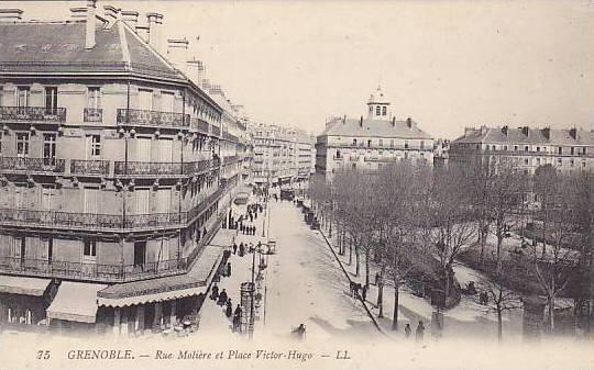 GRENOBLE , France , 00-10s ; Rue Moliere et Place Victor-Hugo