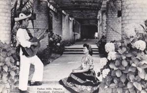 RP, Padua Hills Theatre, Man With A Guitar Singing To A Lady, Claremont, Cali...