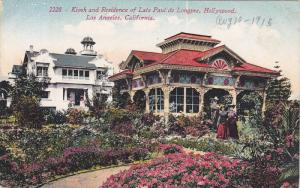 Kiosk and Residence of Late Paul de Longpre,  Hollywood,  Los Angeles,  Calif...