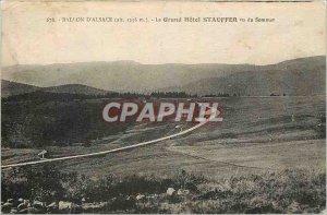 Old Postcard Ballon d'Alsace Grand Hotel Stauffer saw Summit