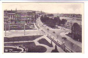 B&W, Downtown, Cars, Liege, Belgium