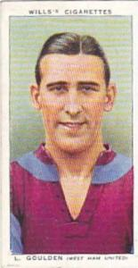 Wills Vintage Cigarette Card Association Footballers No 21 L Goulden West Ham...