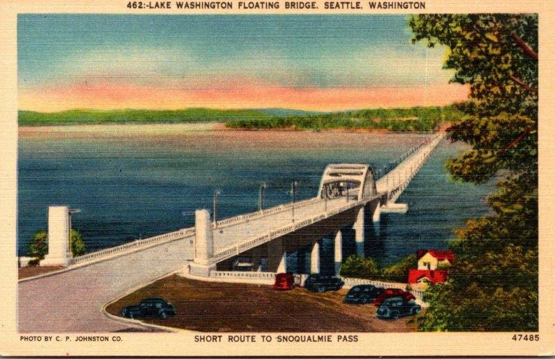 Washington Seattle Lake Washington Floating Bridge