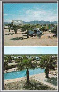 Arizona, Yuma KOA Postcard
