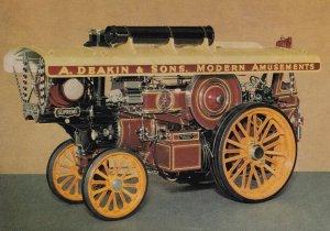 A Deakin & Sons Amusements Fowler 1933 Engine Model Postcard