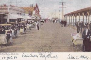 New Jersey Atlantic City Rolling Chairs On The Boardwalk 1906