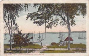 Maine Portland Port Allen Park Eastern Promenade  1917