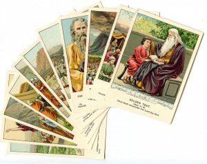 Picture Lesson Cards - Bible Teachings, Set of 13. © 1901
