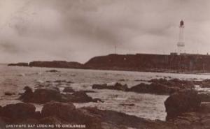 Greyhope Bay Girdleness Aberdeen Scottish Vintage Real Photo Postcard