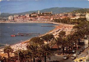 France Cannes, Vue sur le Suquet, Plages de la Croisette 1984