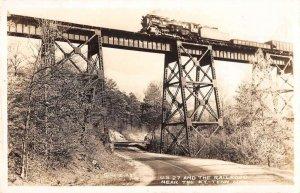 Kentucky Tennessee State Line US 27 Railroad Bridge Real Photo Postcard AA37256