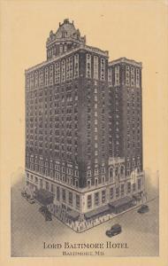 Lord Baltimore Hotel, BALTIMORE, Maryland, PU-1935