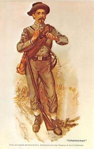 Civil War Post Card Old Vintage Antique Postcard Infantryman, WL Sheppard Unused