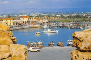 Cyprus Historic Paphos Harbour Fishing Boats Port Auto Car