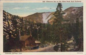 Colorado Colorado Springs Glencove Inn On The Pikes Peak Auto Highway 1943
