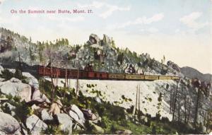 On the Summit near Butte MT Montana Unused Vintage Postcard E13