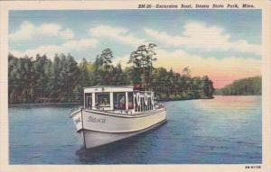 Minnesota Itasca State Park Excursion Boat  Curteich