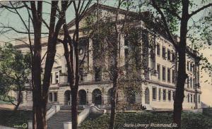 Exterior, State Library, Richmond, Virgina,  PU-1909