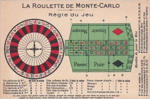 Monte Carlo Roulette Wheel &  Board Instructions