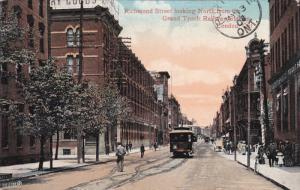 LONDON , Ontario , Canada , PU-1908 ; Richmond Street North From Grand Trunk ...
