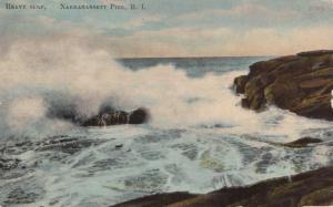 Heavy Surf at Narragansett Pier RI, Rhode Island - pm 1911 - DB