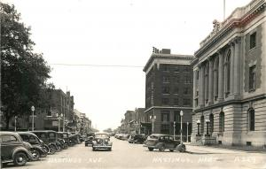 Hastings NE Post Office & US Courthouse~Clarke Hotel  RPPC Nice 1940s Cars