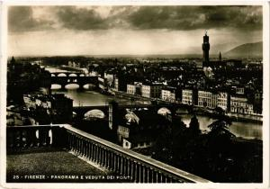 CPA FIRENZE Panorama e Veduta dei Ponti . ITALY (492665)