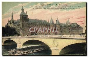 Old Postcard Paris La Peniche Conciergerie