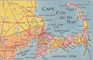 Cape Cod Auto Map 1940