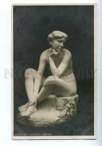 139598 Dreaming NUDE NYMPH by GUENIOT vintage SALON 1905 PC