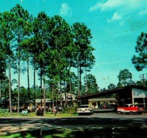 Pearson Georgia GA Corral Motel Signs Cars UNP Vtg Chrome Postcard