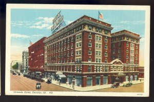 Decatur, Illinois/IL Postcard, Orlando Hotel, Old Cars
