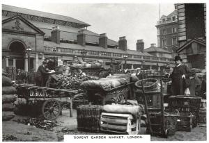 Vintage Repro London Postcard, Covent Garden Market c1912 20S